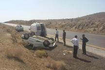 واژگونی خودرو سواری تندر چهار زخمی داشت