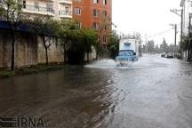 بارش 81 میلیمتر باران باعث آبگرفتگی معابر آستارا شد
