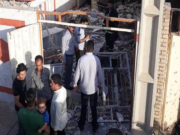 انفجار گاز در اندیمشک سه مصدوم بر جا گذاشت