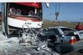 تصادف اتوبوس با پراید در شیروان یک کشته و سه مصدوم برجای گذاشت