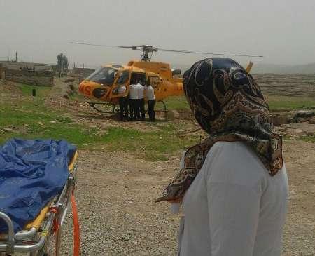 انتقال دو زن باردار با اورژانس هوایی به بیمارستانی در ایلام