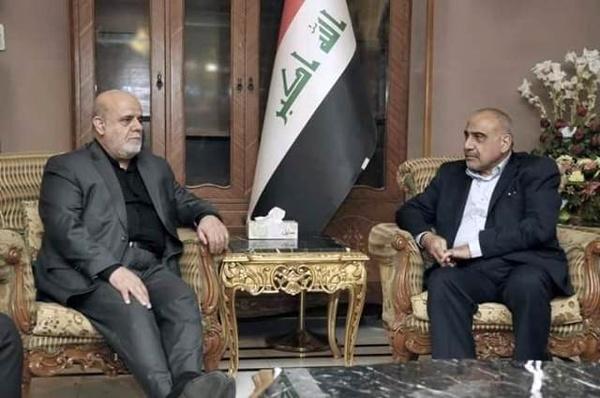 دیدار سفیر ایران در بغداد با عادل عبدالمهدی