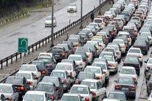 ترافیک در باند جنوبی آزادراه های قزوین سنگین است