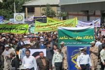 دادخواهی مظلومیت قدس در حماسه راهپیمایی اهل سنت مهاباد