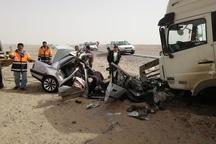 کشته شدن پنح سرنشین خودرو در محور فهرج - زاهدان