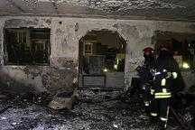 یک واحد مسکونی در محلات طعمه آتش شد