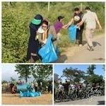 پاکسازی حاشیه تالاب و همایش دوچرخه سواری در بندرانزلی