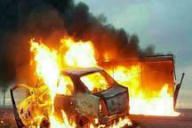 آتش سوزی خودرو در اصفهان  چهارکشته برجا گذاشت