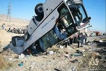 ١٣مصدوم در واژگونی مرگبار مینیبوس در جاده مشهد-تربت حیدریه