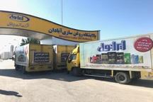 کاروان کمک های شرکت ایرانول به مناطق سیل زده خوزستان رسید