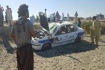 افراد مسلح به خودروی پلیس راه ایرانشهر تیراندازی کردند