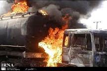 انفجار تانکر حمل بنزین در رفسنجان خسارت جانی نداشت