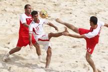 تیم فوتبال ساحلی دهیاری ملاباشی یزد در دیدار خانگی شکست خورد