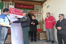 پویش 'نه به چهارشنبه سوری خطرناک' در بوکان راه اندازی شد
