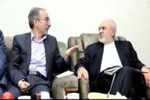 شهردار مشهد با وزیر امور خارجه دیدار کرد