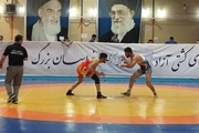تیم کشتی شهدای ارتش تیم خراسان رضوی را مغلوب کرد
