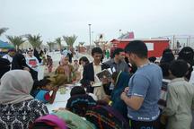 طرح عیدانه کتاب در ساحل کنارک اجرا شد