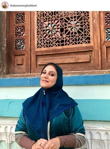 خانم بازیگر با لباس قاجاری+ عکس