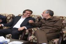 گفتگوی علی اشراقی نوه گرامی امام و احمد مسجد جامعی در مرقد مطهر امام خمینی + تصویر