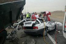 سوانح رانندگی همدان سه کشته بر جا گذاشت