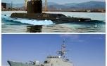حضور زیردریایی فاتح و ناوشکن سهند در رزمایش ولایت ۹۷ + عکس