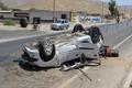 واژگونی خودرو در رفسنجان جان زوج جوان را گرفت