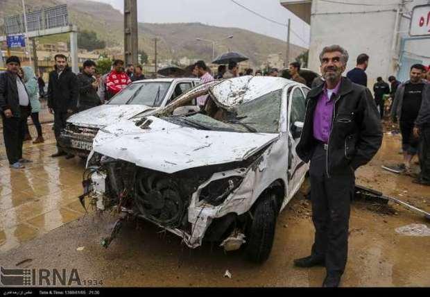 200 خودرو زیان دیده سیل شیراز کارشناسی میزان خسارت شدند