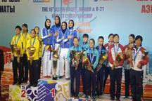 بانوان کاراته کار مازندران بر سکوی قهرمانی آسیا
