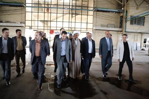 مسئولان قزوین از یک شهرک صنعتی غیر فعال بازدید کردند