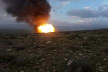 انفجار لوله گاز اتیلن غرب کشور در کرمانشاه