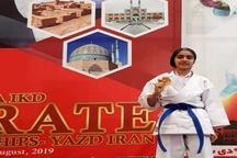 درخشش بانوی کهگیلویه ای در اولین دوره بازیهای آسیایی کاراته بانوان
