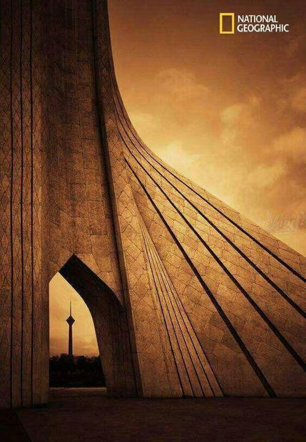 تصویر خلاقانه ی نشنال جئوگرافیک از تهران