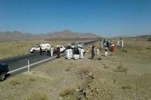 17 مصدوم در اثر واژگونی سه خودرو در جاده نیشابور - مشهد