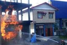مهار آتش سوزی واحد عرضه گاز مایع در تالش