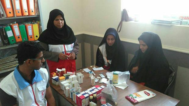 474 روستایی زاهدان توسط داوطلبان هلال احمر ویزیت رایگان شدند