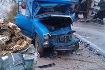 تصادف در آزاد راه کرج- قزوین یک کشته و یک مصدوم بر جا گذاشت