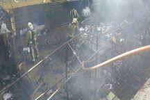 آتش سوزی انبار پارچه در خیابان بهار تهران مهار شد