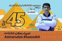قهرمانی تکواندو کار نونهال البرزی در مسابقات جهانی