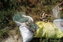 صیادان متخلف در بیجار به دام محافظان محیط زیست افتادند