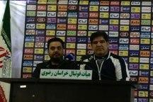 سرمربی تیم فوتبال پدیده: برای کسب پیروزی به میدان می رویم