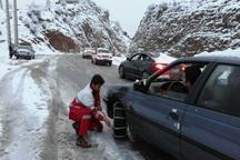 200خودرو 'گرفتار در برف توسط هلال احمر بروجرد امداد رسانی شد