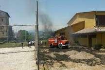 مهار آتش سوزی باشگاه ورزشی در آستارا