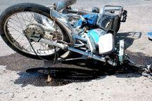 موتورسوار غلامانی در برخورد با خودرو جان باخت