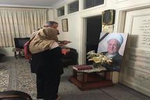 حضور دختر نویسنده کتاب «سرگذشت فلسطین» در منزل آیت الله هاشمی(ره)