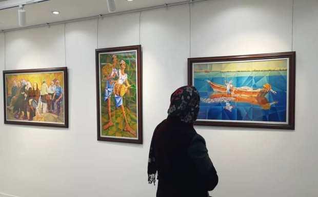 نمایشگاه نقاشی دربوشهر گشایش یافت