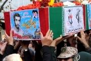 تشییع پیکر شهید تازه تفحص شده دوران دفاع مقدس در لنگرود