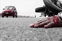 مرگ موتور سوار بر اثر بیتوجهی به جلو در فراهان