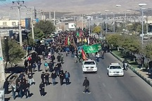 پیاده روی جاماندگان اربعین حسینی در مراغه برگزار شد