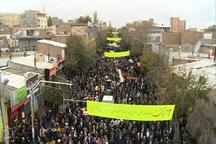 مشگین شهری ها در راهپیمایی 13 آبان شرکت کردند