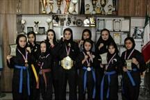 بانوان میاندوآبی قهرمان مسابقات رزمی مبارزات آزاد کشور شدند